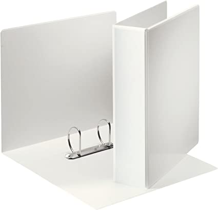 Leitz 49742 - Archivador (A4, de 2 anillas, con bolsillos, 50 mm, polipropileno), color blanco: Amazon.es: Oficina y papelería