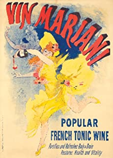 product image for France - Vin Mariani - Popular French Tonic Wine - (artist: Cheret, Jules c. 1894) - Vintage Advertisement (16x24 Giclee Gallery Print, Wall Decor Travel Poster)