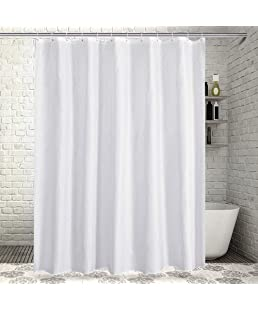Sable Polyester Shower Curtain for Bathroom with Rustproof Grommets and Plastic Hooks