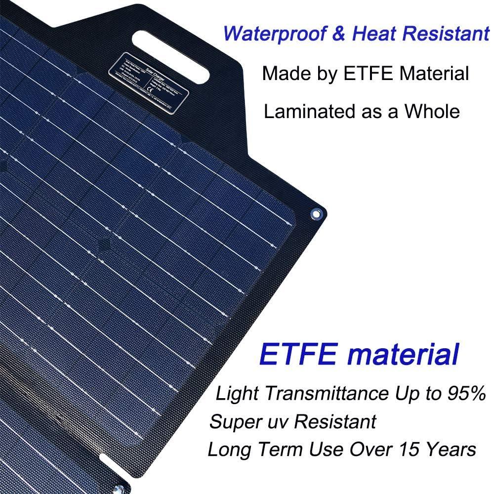 TP-solar 120 Watt Foldable Solar Panel Battery Charger Kit for Portable Generator Power Station Cell Phones Laptop 12V Car Boat RV Trailer Battery Charge Dual 5V USB /& 19V DC Output
