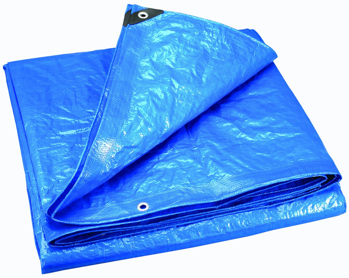 10/' x 20/' Stansport Outdoors 10 x 20 Blue Blue Stansport T-1020-35 Extra Heavy Rip Stop Multi-Purpose Tarp