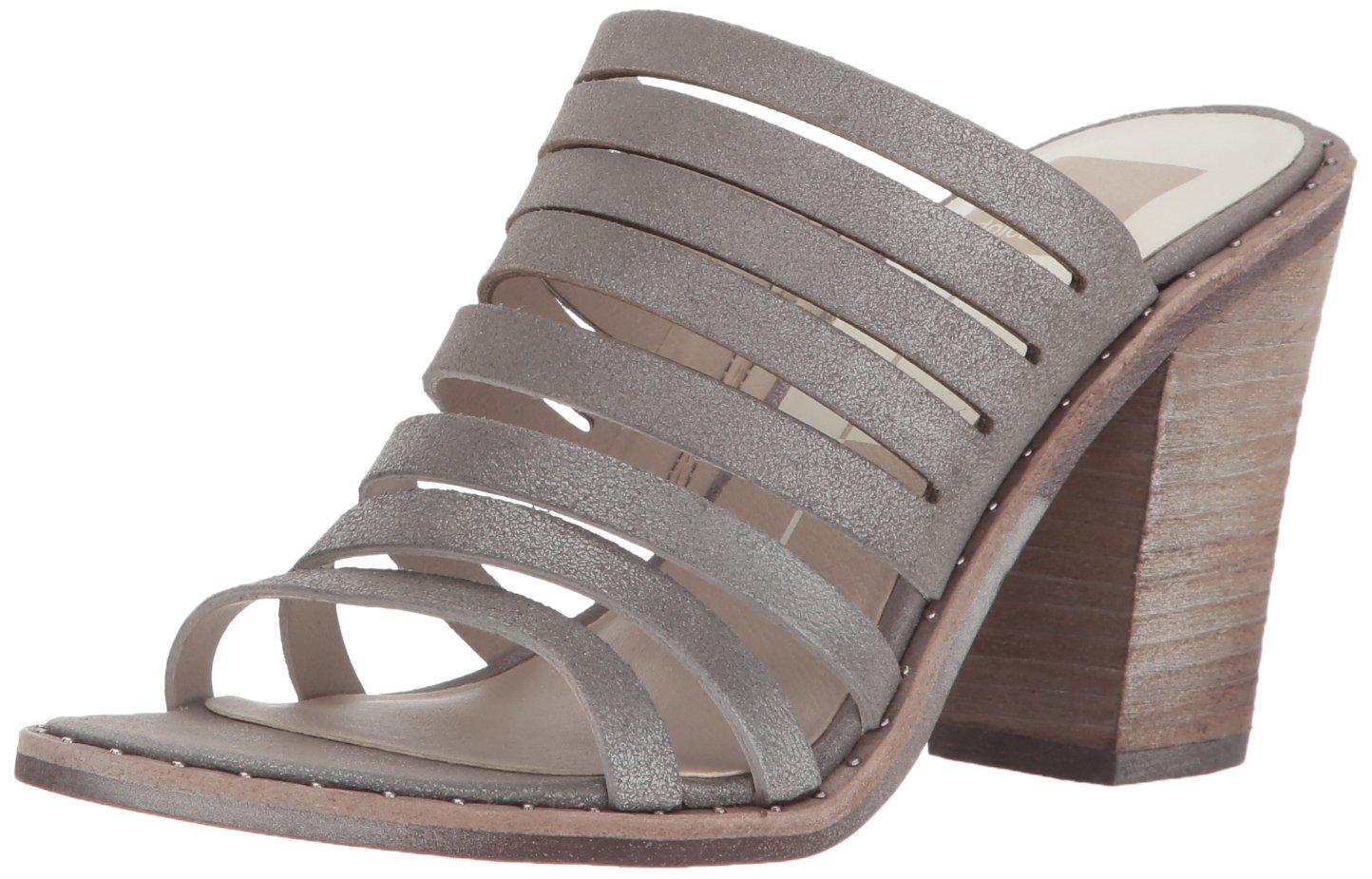 Dolce Vita Women's Lorna Heeled Sandal, Smoke Suede, 8 M US