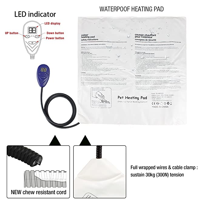 amazon com enjoying dog heating pad, pet bed warmer with chew heater wiring diagram amazon com enjoying dog heating pad, pet bed warmer with chew resistant cord & overheating protection heated pads with led indicator for pets 19 7\