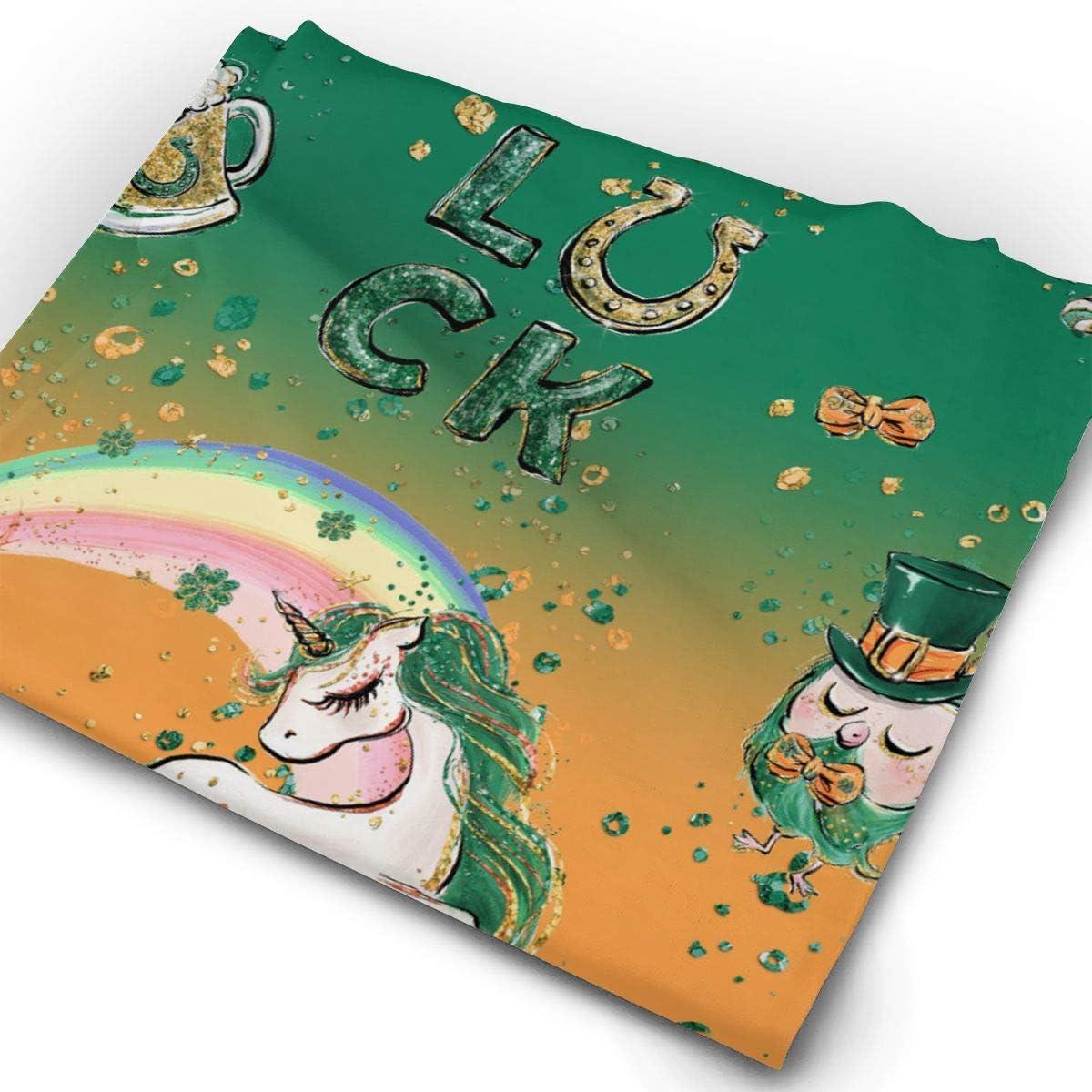Patricks Flamingo Unicorn Rainbow Unisex Fashion Quick-Drying Microfiber Headdress Outdoor Magic Scarf Neck Neck Scarf Hooded Scarf Super Soft Handle St