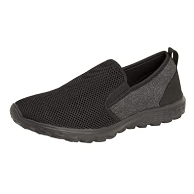 Mens Slip On Sports Casual Fitness Walking Running Gym Boys Trainers Shoes Size