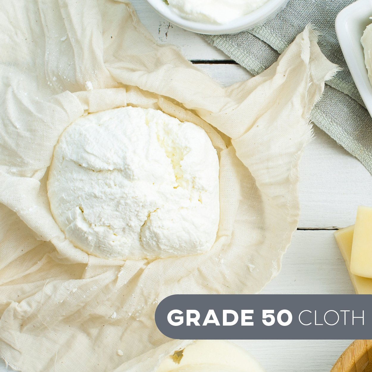 Cheesecloth and Cooking Twine - by Kitchen Gizmo, Grade 50 100% Unbleached Cotton (5 Yards/45 Sq. Feet) Cheese Cloth for Straining with 220 Ft Butchers Twine by Kitchen Gizmo (Image #7)