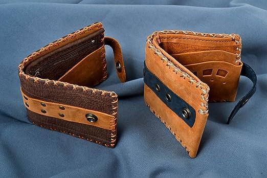 Monederos de cuero hechos a mano 2 carteras de cuero hecho a ...