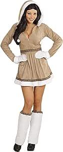 WIDMANN Disfraz para adultos 05551 de chica esquimal, vestido con ...