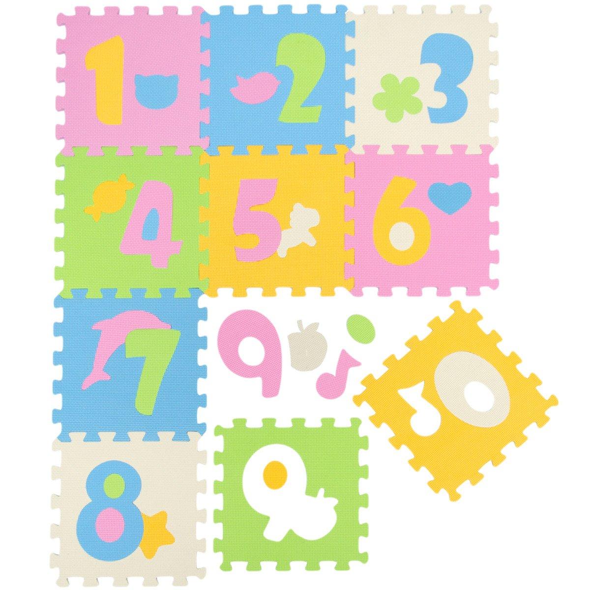 LittleTom Baby Puzzlematte Ab Null Kinder Spielmatte Eva Krabbelmatte Zoo Tiere