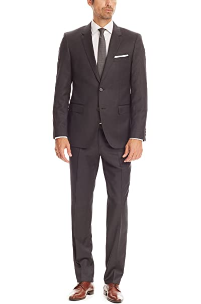 85496d07 Hugo Boss Men's Grey 'The James/Sharp' Regular Fit Super 100 Virgin Wool  Suit, Size 46L: Amazon.ca: Clothing & Accessories