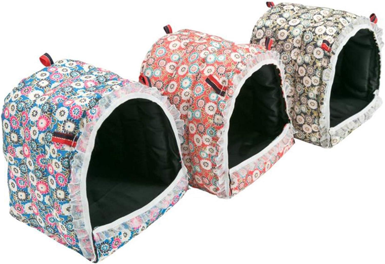 MINGZE Hamster Hammock, Nice Hut, Casa de Cama Colgante para Ratones Hedgehog Hamster Gerbil Chinchilla Conejillo de Indias, M/L/XL (L)