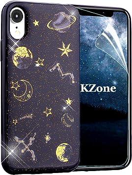 OKZone Funda iPhone XR, [Serie Noche Estrellada] Cárcasa Brilla ...
