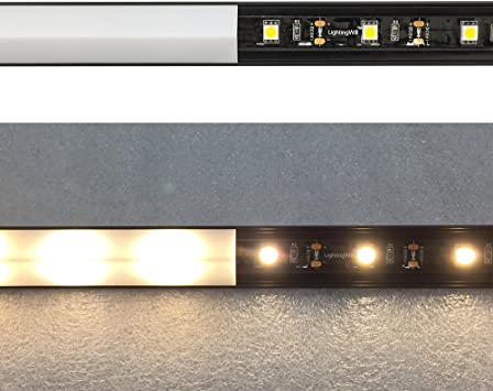 V01-Black lightingwill V-Form interne Breite 12/mm Ecke LED Aluminium Profil System mit Abdeckung Endkappen und Befestigung Clips Aluminium Extrusion f/ür LED Lichtleiste Installationen 5x1M-Pack