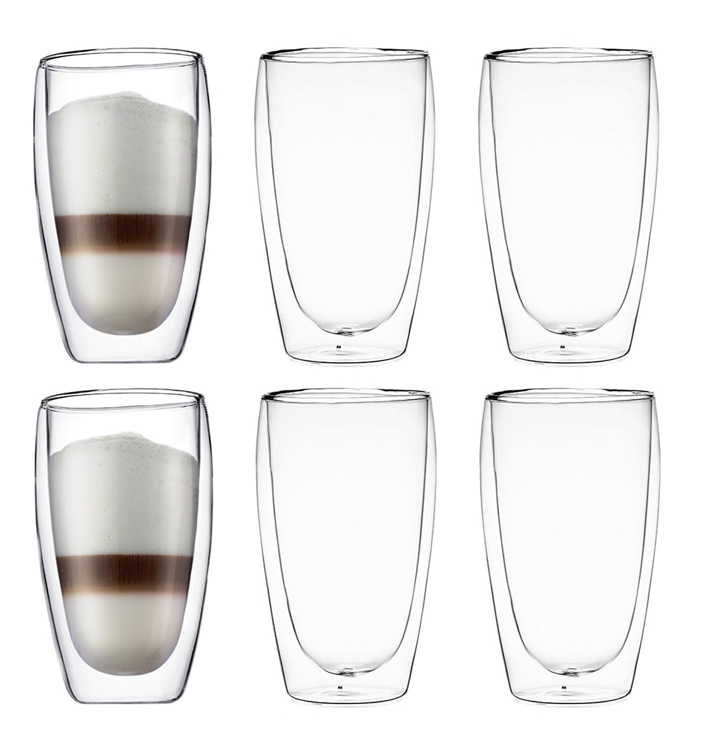 Bodum Pavina Double-wall Insulated 15-ounce Glasses - (Set of 6)