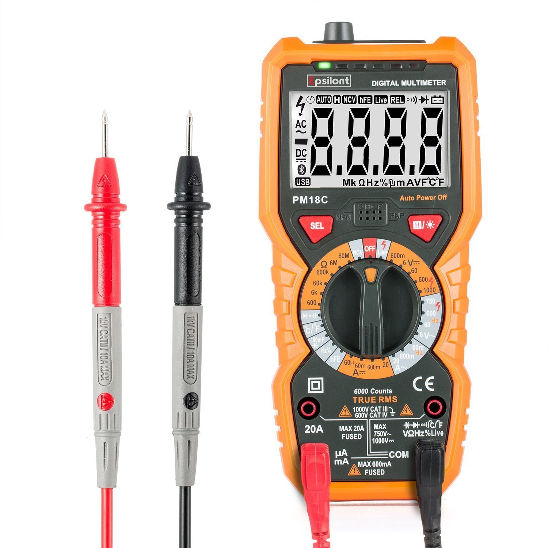 Professional Grade 6000 Counts True RMS 1000V AC DC 20A AC DC ...
