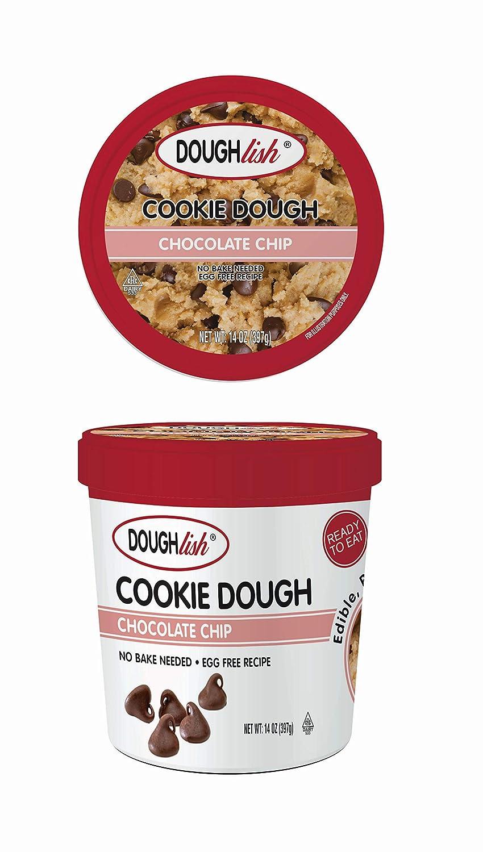 Taste of Nature Doughlish Edible Cookie Dough - Chocolate Chip 14oz Pint, 6ct