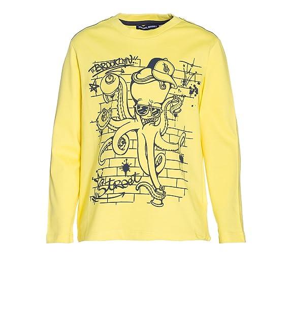 nuovo prodotto 244c6 923a7 ORIGINAL MARINES - Felpa - ragazzo giallo 2 anni: Amazon.it ...