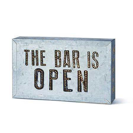 Demdaco The Bar is Open Metal Wall Art