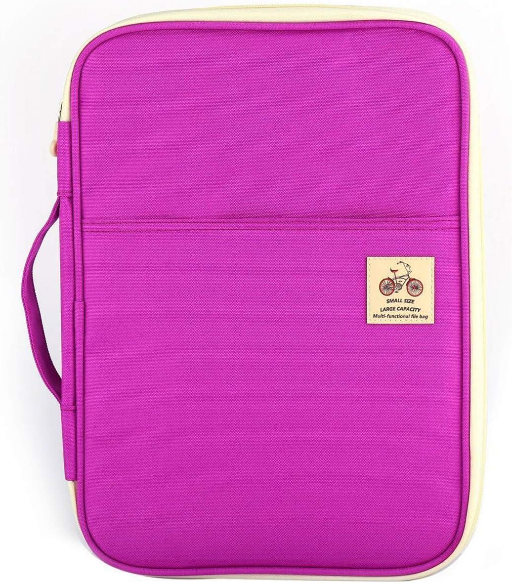 Gili Pink Flower Travel Passport /& Document Organizer Zipper Case