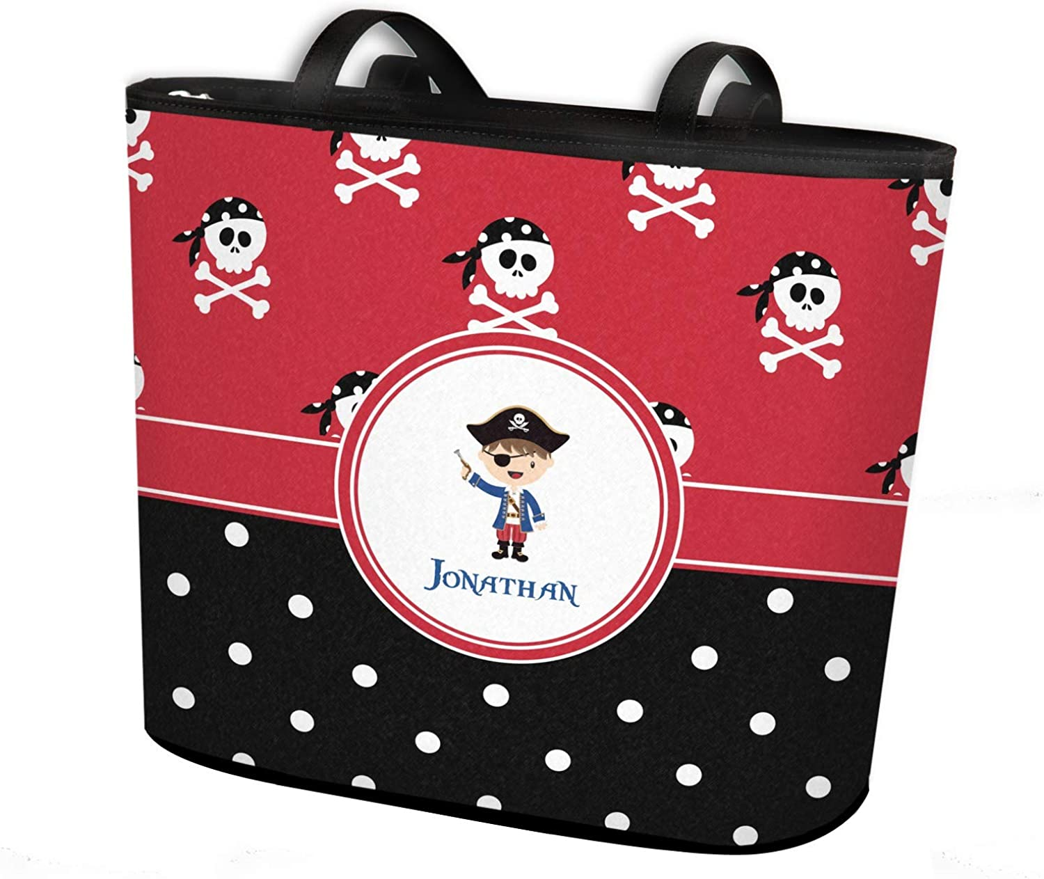 Girls Pirate /& Dots Canvas Checkbook Cover Personalized