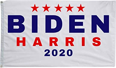 Amazon Com Libertee Joe Biden And Kamala Harris 2020 Wall Flag For Democrats Single Sided 3x5 Ft Flag Banner For Indoor Or Outdoor Use Clothing