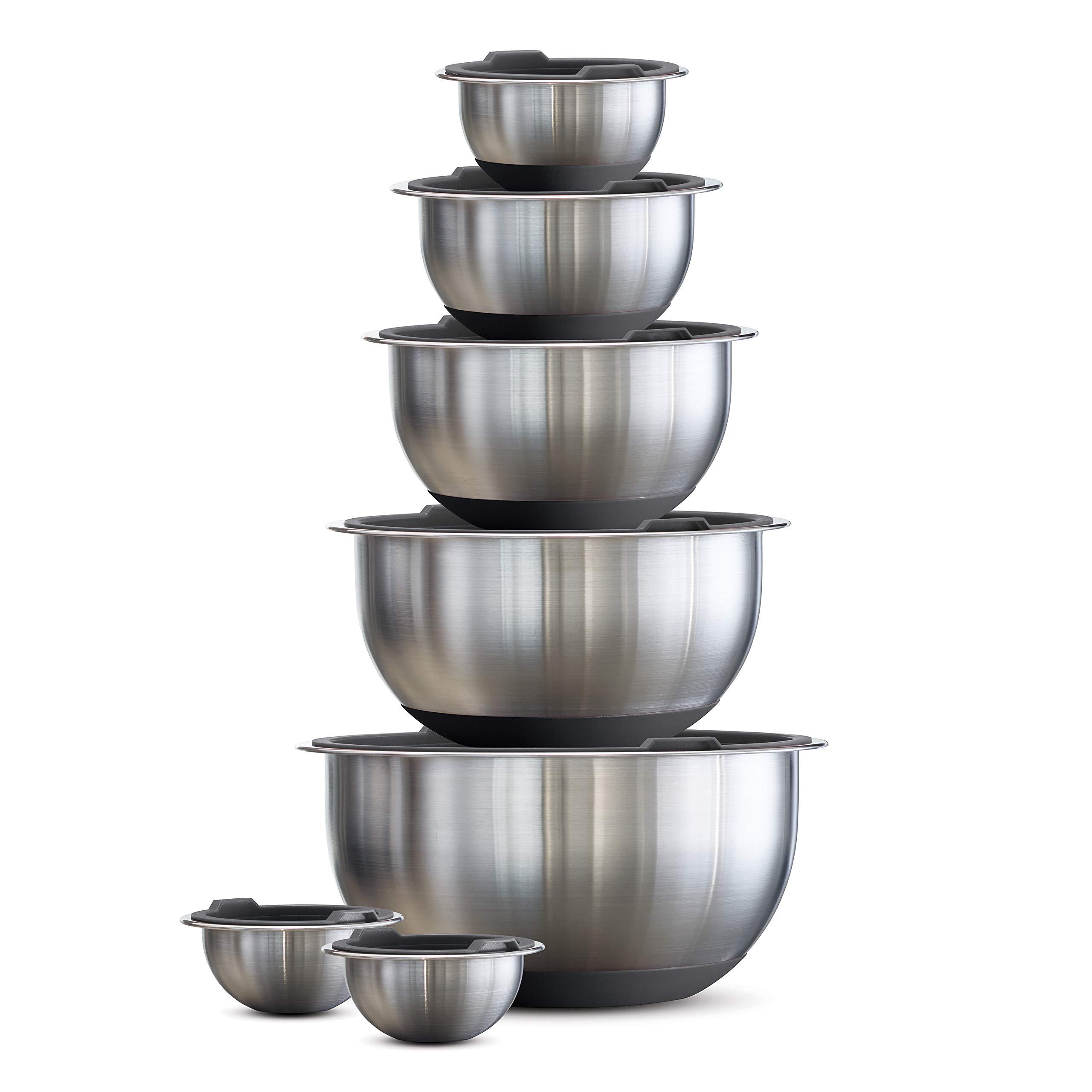 Tramontina 80202/507DS Mixing Bowls, 14 Pc, Gray by Tramontina