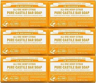 product image for Dr. Bronner's Pure-Castile Bar Soap – Citrus, 5 oz, 6 Pack
