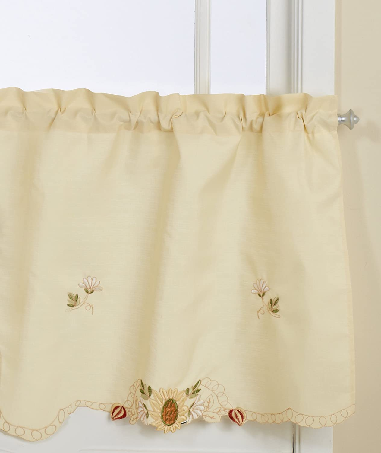 LORRAINE HOME FASHIONS Sunflower Tailored Valance, 60 by 12-Inch, Multi-Color 00370-V-00014