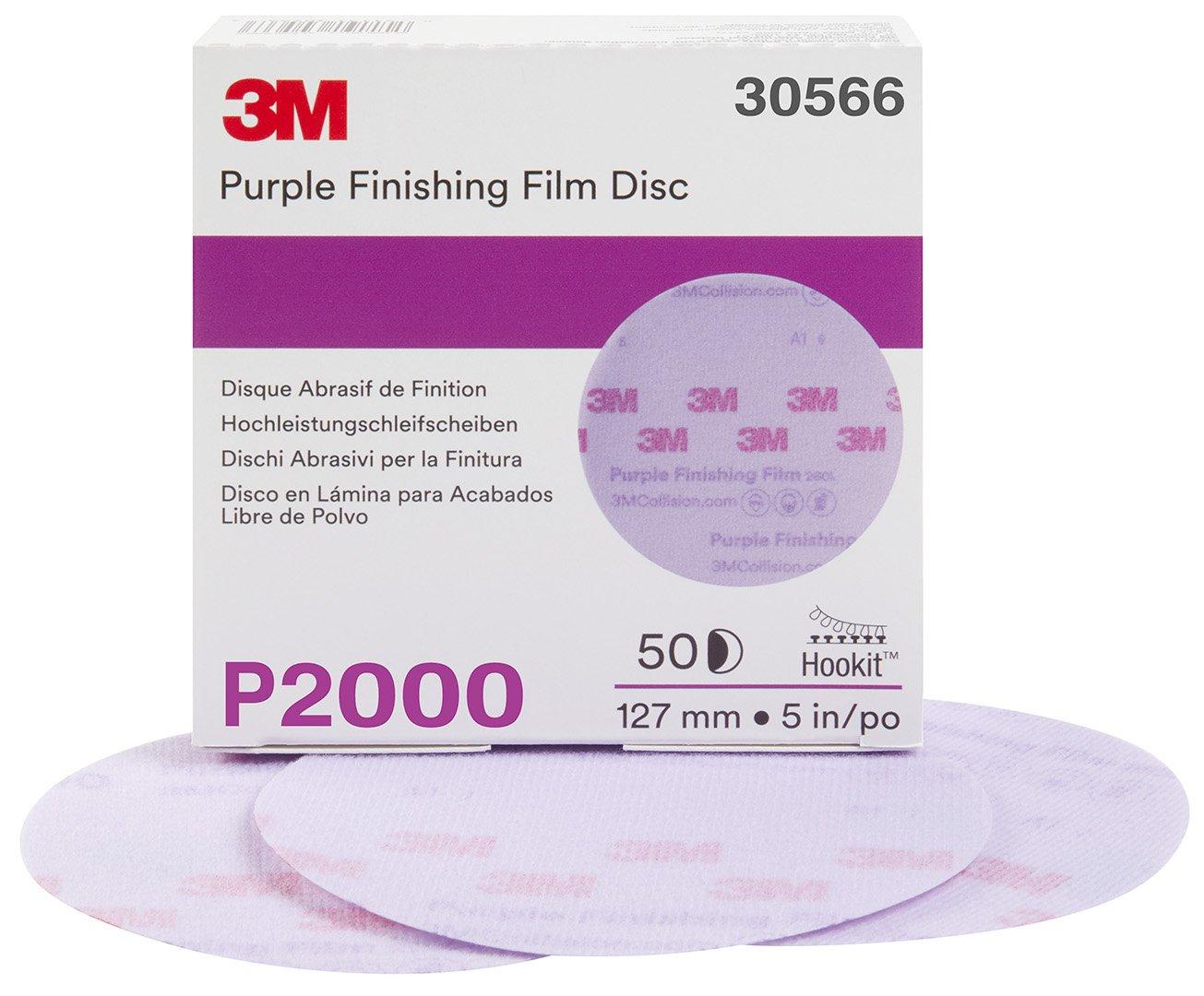3M 30566-50PK Hookit 5'' Purple Finishing Film Disc, (Pack of 50) by 3M (Image #2)