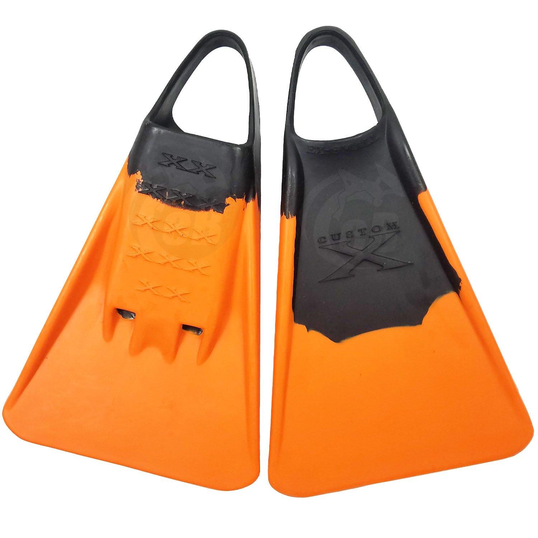 カスタムX Swimfin – ブラック/オレンジ B0731NRPR9   X-Small