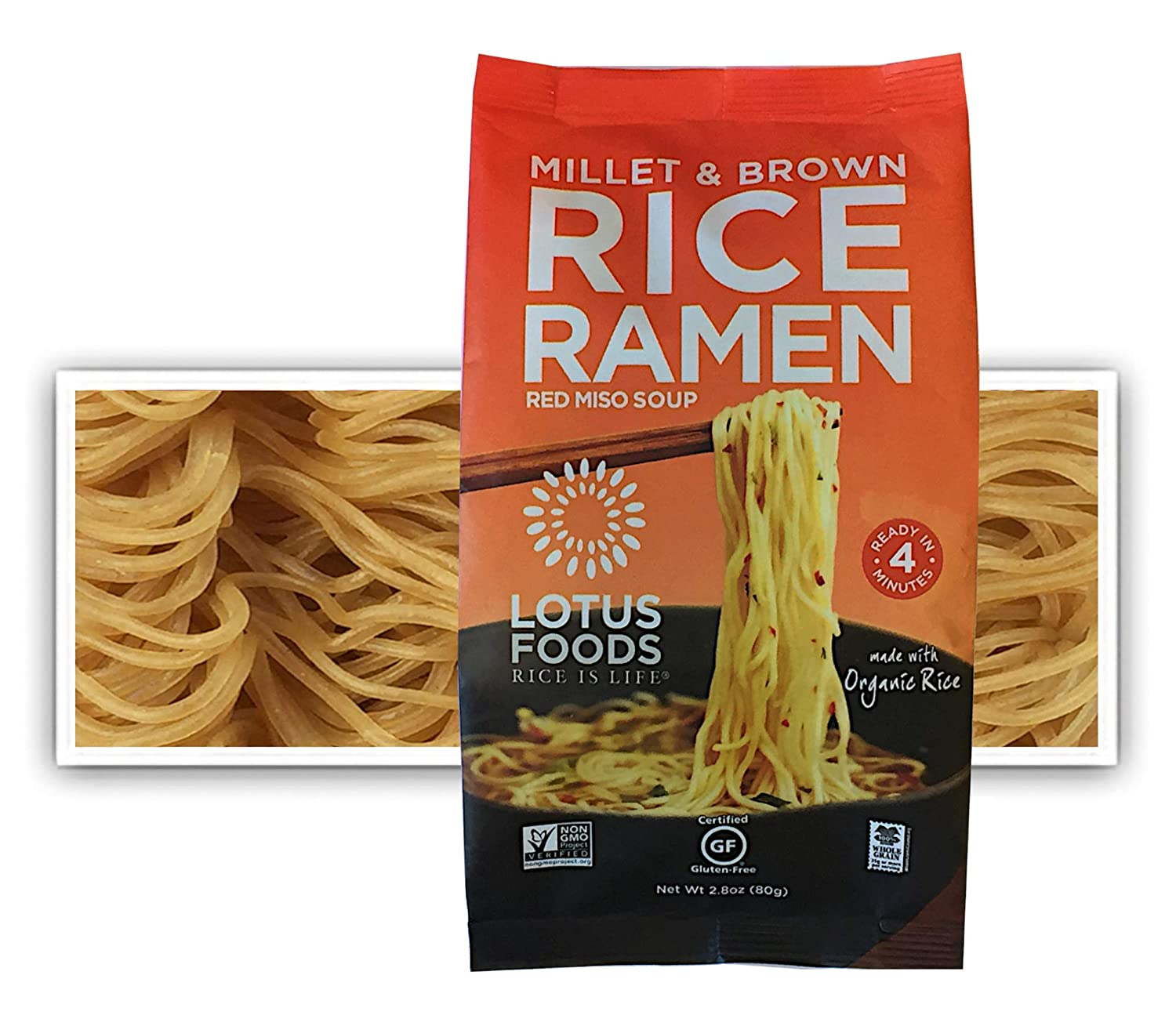 Amazon Com Lotus Foods Millet Brown Rice Ramen With Miso Soup Gluten Free 2 8 Oz Pack Of 10 Grocery Gourmet Food