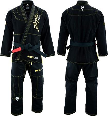 Max5 Ultra Light Brazilian Jiu Jitsu Gi MMA Grapppling Uniform W//Preshrunk Fabric IBJJF Approved BJJ Suit Free White Belt