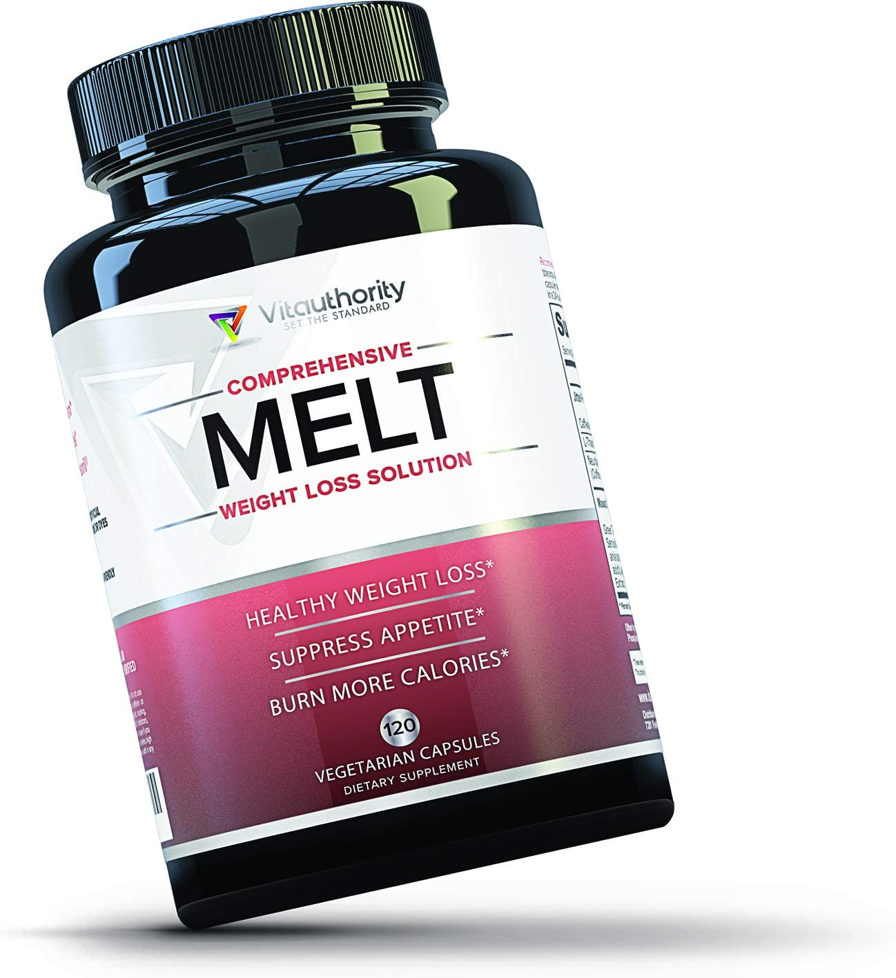 MELT Fat Burner for Women Diet Pills to Support Weight Loss for Women, Appetite Suppressant and Metabolism Booster with Green Tea EGCG, Sensoril and Acetyl L Carnitine, 120 Vegetarian Capsules