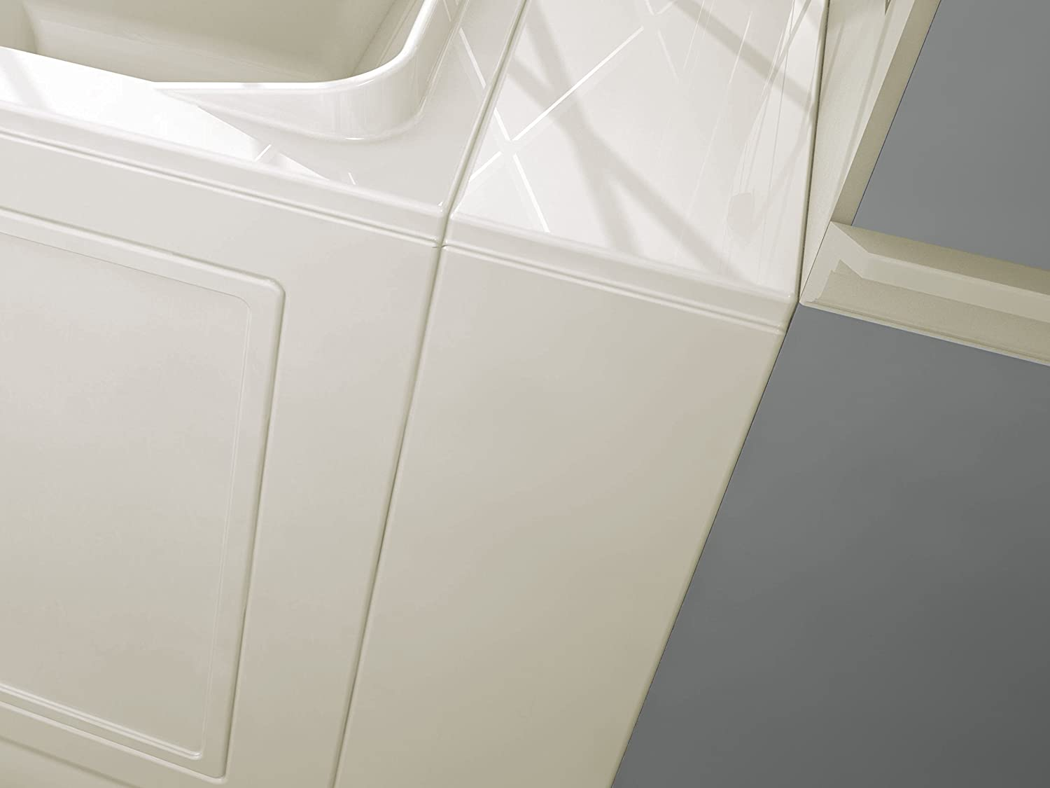 American Standard 30x52 Right Hand Outward Opening Door Value Series Walk in Combo Whirlpool and  Air Spa in Linen