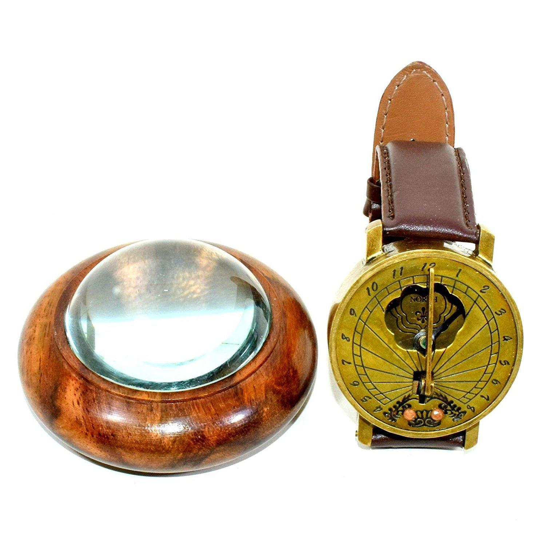 Eve。ストアヴィンテージスタイルスチームパンク手首真鍮コンパス sundial-watchコンパス B07C7YWTDB