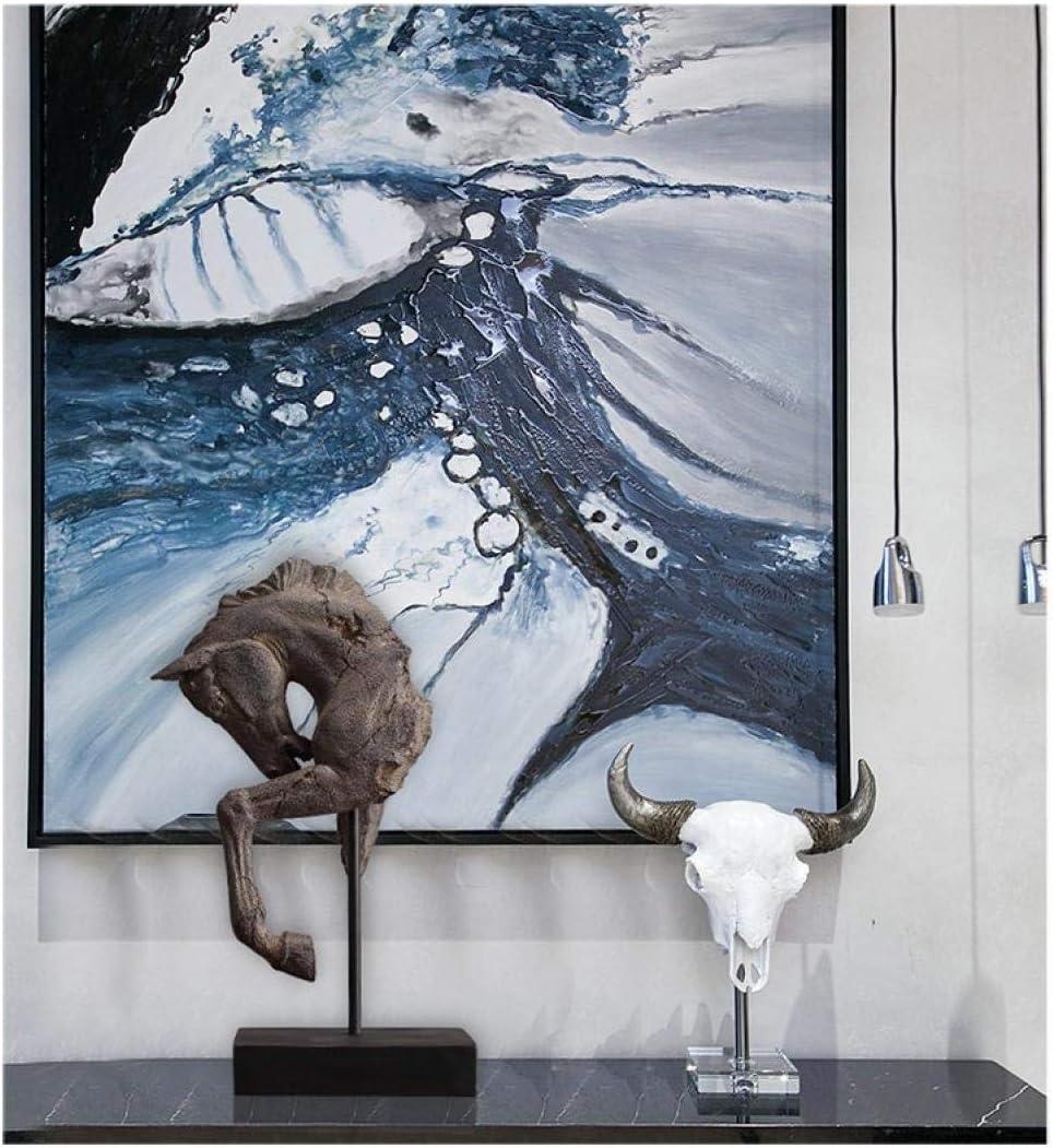 wksee Ornements De Statue Figurines/D/écoration G/én/érale De La T/ête De Cheval D/écoration De La Maison D/écoration Animale Salon Entr/ée D/écoration D/Étude