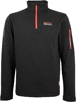 MBA-SPORT Ayrton Senna McLaren Zip-Sweatshirt Three Times World Champion