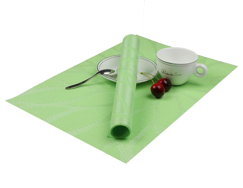 Famibay PVC Tejer tejido cocina manteles de mesa Juego de 6