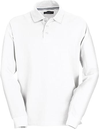 Payper - Polo de manga larga para hombre, 100% algodón, 3 botones ...