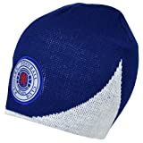 Rangers FC Official Wave Football Crest Knitted Beanie Hat