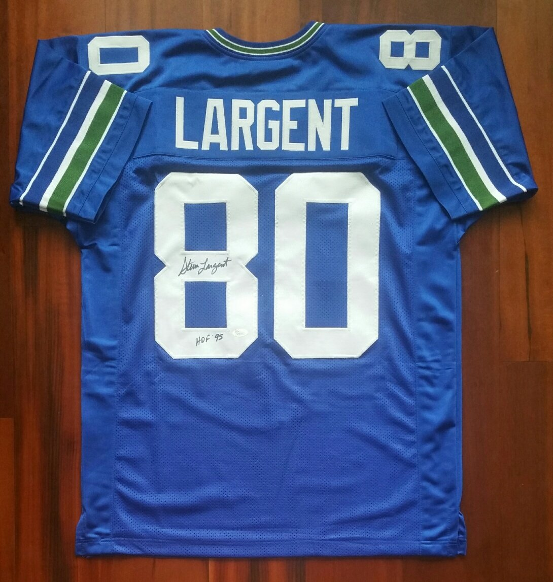 666ff30fc Steve Largent Signed Autographed Jersey Seattle Seahawks JSA at Amazon s  Sports Collectibles Store
