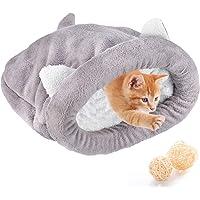 Fleece mjuk katt sovsäck uppvärmning tvättbara husdjurssängar myssäck filt matta katter hundar bo grotta hus mysig täckt…