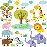 Decowall, DW-1508, Patched Jungle peel & stick Nursery wall decals stickers
