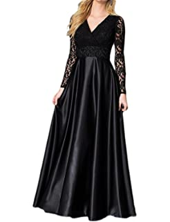 Fanciest Womens Lace Prom Evening Dresses Long Sleeve Mother Of The Bride Dress