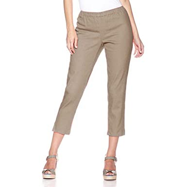 Chic Jegging Capri Pants Plus Size by Diane Gilman, Khaki, Petite ...