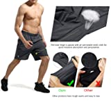 NICEWIN Men's Athletic Running Gym Workout Shorts