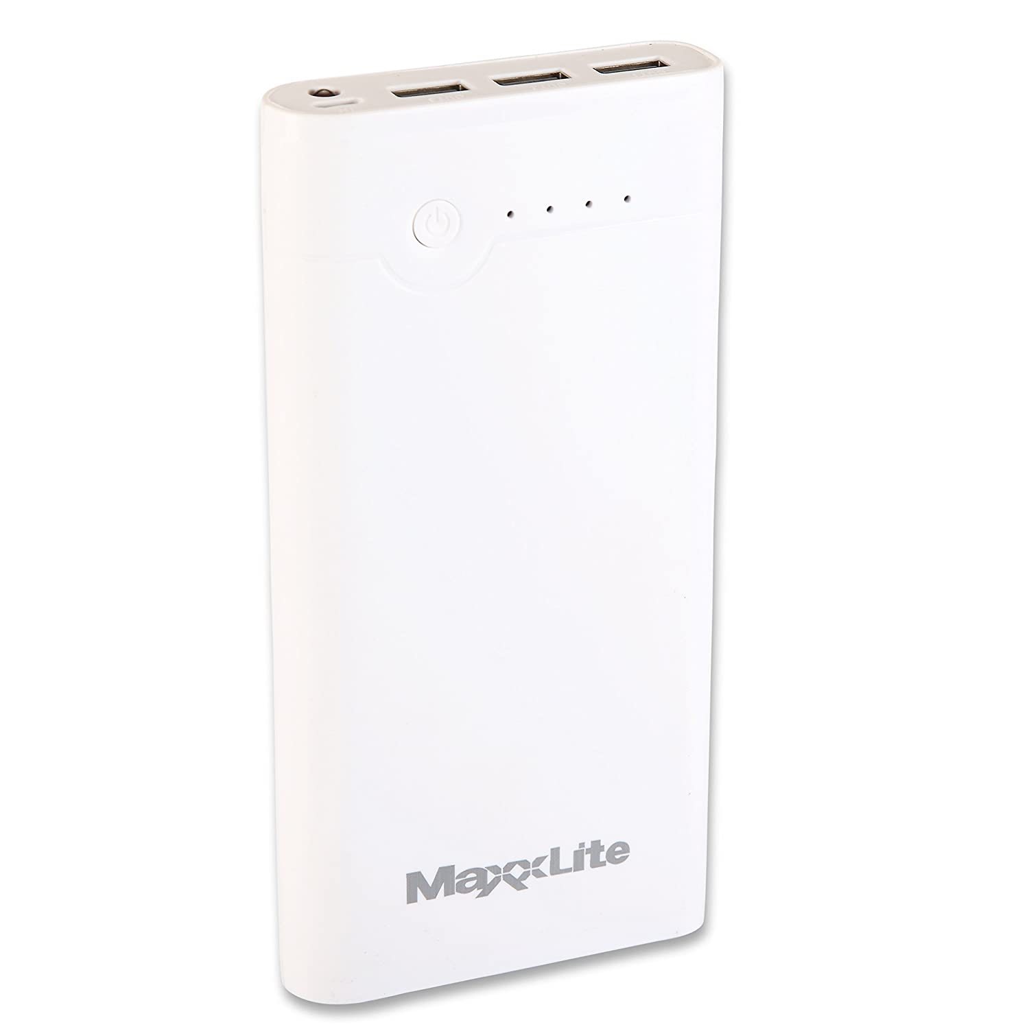 Maxxlite 24000mah power bank with 3 usb port led torch white maxxlite 24000mah power bank with 3 usb port led torch white amazon electronics fandeluxe Gallery