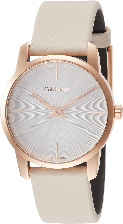 Calvin Klein Reloj Analogico para Mujer de Cuarzo con Correa en Cuero K2G236X6