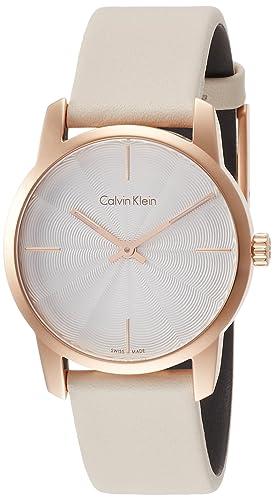 Calvin Klein Reloj Analogico para Mujer de Cuarzo con Correa en Cuero K2G236X6: Amazon.es: Relojes