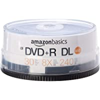 AmazonBasics 8.5GB 8x Blank Disks DVD+R DL - 30-Pack Spindle